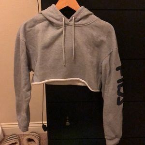 Cropped Fila Sweatshirt from Urban Outfitters